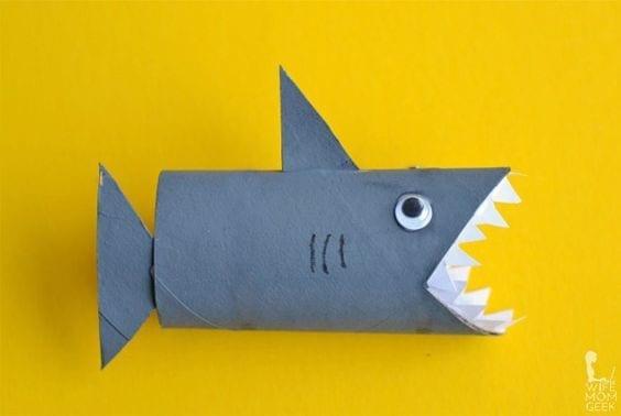 Animais feitos com rolos de papel higienico 00