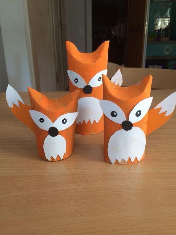 Animais feitos com rolos de papel higienico 04