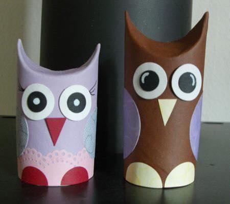 Animais feitos com rolos de papel higienico 09