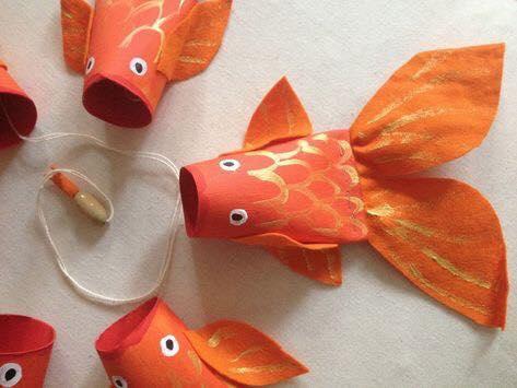 Animais feitos com rolos de papel higienico 10