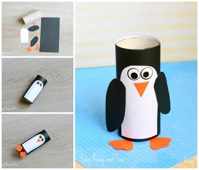 Animais feitos com rolos de papel higienico 13