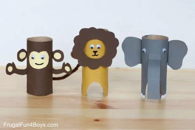 Animais feitos com rolos de papel higienico 14