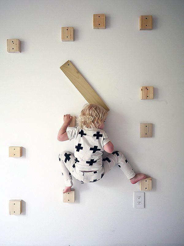 Paredes de escalada para o quarto das criancas 02