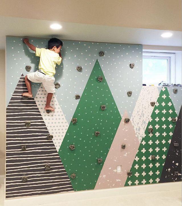 Paredes de escalada para o quarto das criancas 08