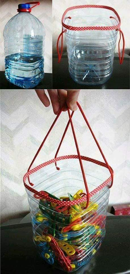 aproveitar garrafas de plastico para organizar a casa 06