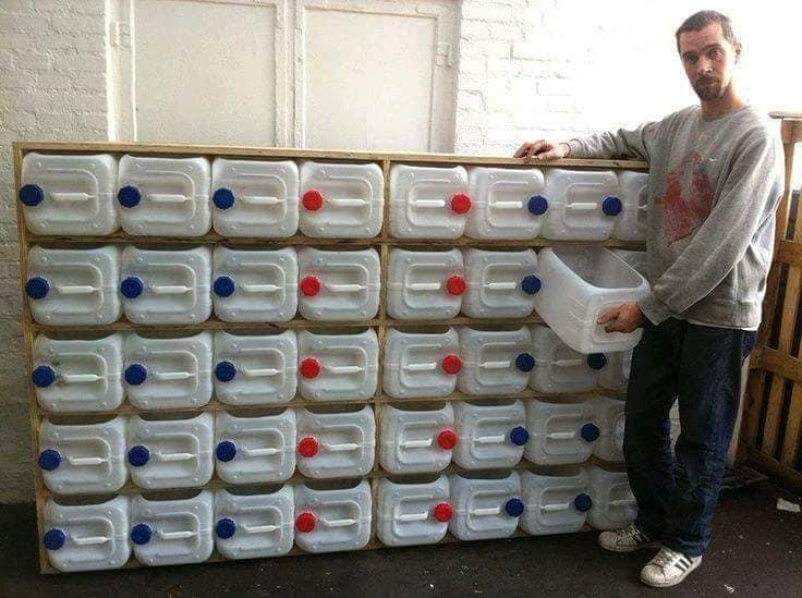 aproveitar garrafas de plastico para organizar a casa 10