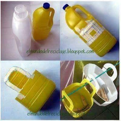 aproveitar garrafas de plastico para organizar a casa 11