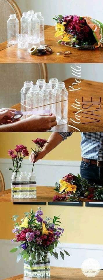 aproveitar garrafas de plastico para organizar a casa 16