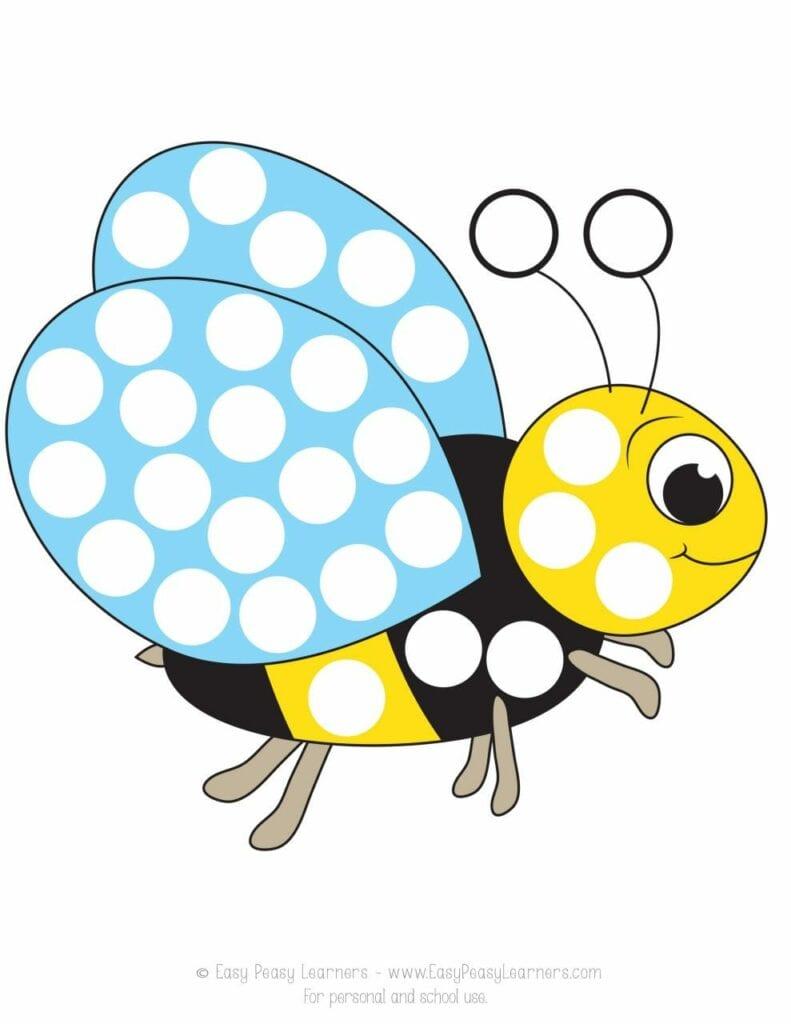 desenhando a primavera com adesivos abelha