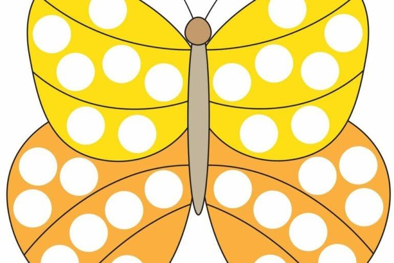 desenhando a primavera com adesivos borboleta