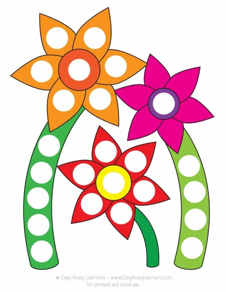 desenhando a primavera com adesivos flores