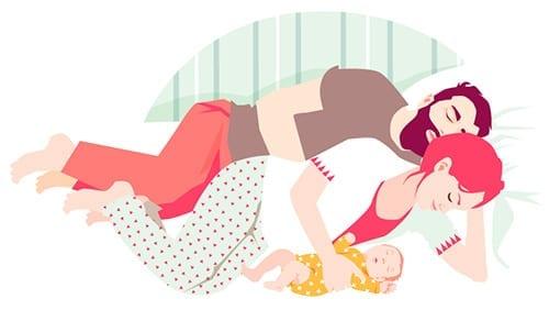 dormir com o bebe amamentacao