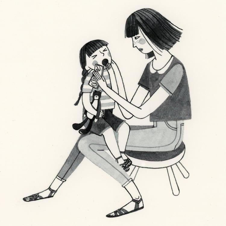 mae de uma menina de 2 anos 32
