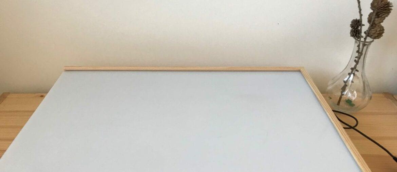 Como fazer uma mesa de luz Reggio Emilia diy 03