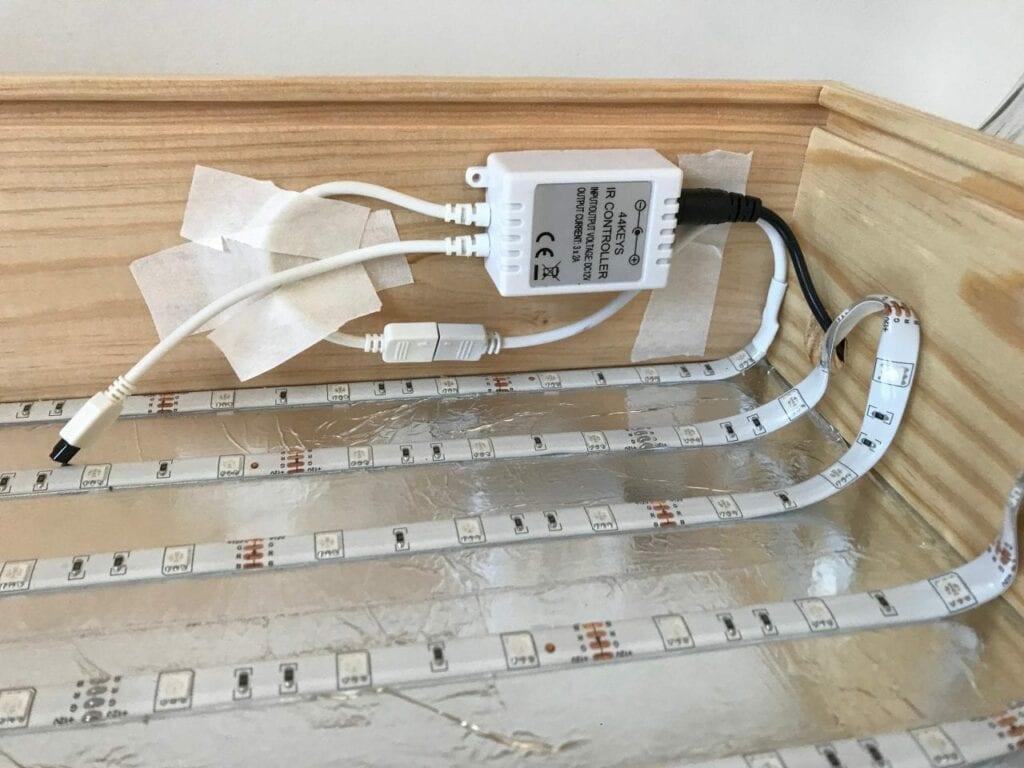 Como fazer uma mesa de luz Reggio Emilia diy 06