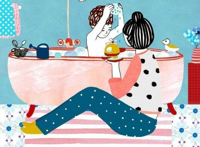momentos da maternidade ilustrados monann 01