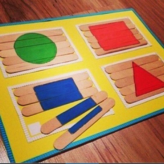 aprender figuras geometricas palitos de picole 1