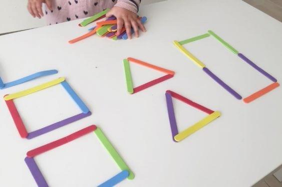 aprender figuras geometricas palitos de picole