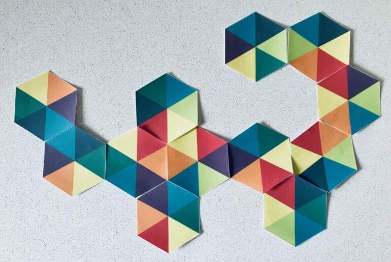 hexagonos coloridos para imprimir