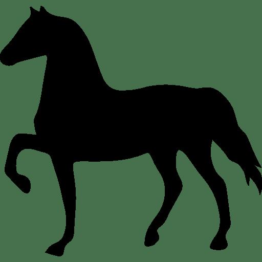 silhuetas de animais mamiferos para imprimir cavalo