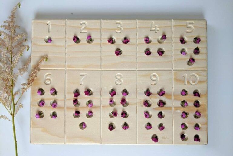 tabua de contar numeros com flores 01