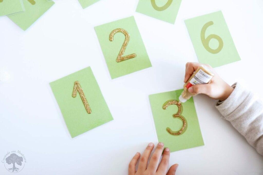 Como fazer numeros de lixa Montessori 03