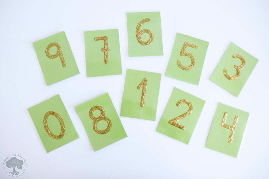 Como fazer numeros de lixa Montessori 05