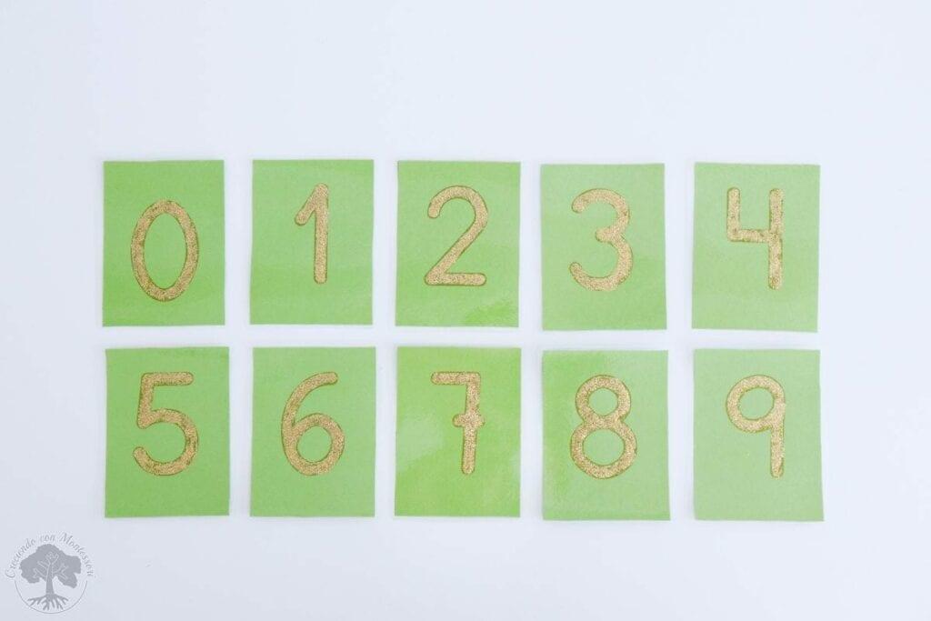 Como fazer numeros de lixa Montessori 06
