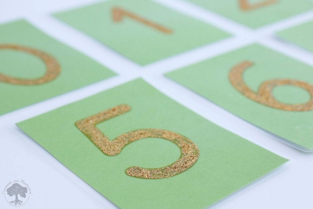 Como fazer numeros de lixa Montessori 07