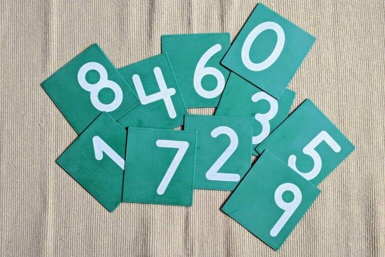 numeros de lixa montessori