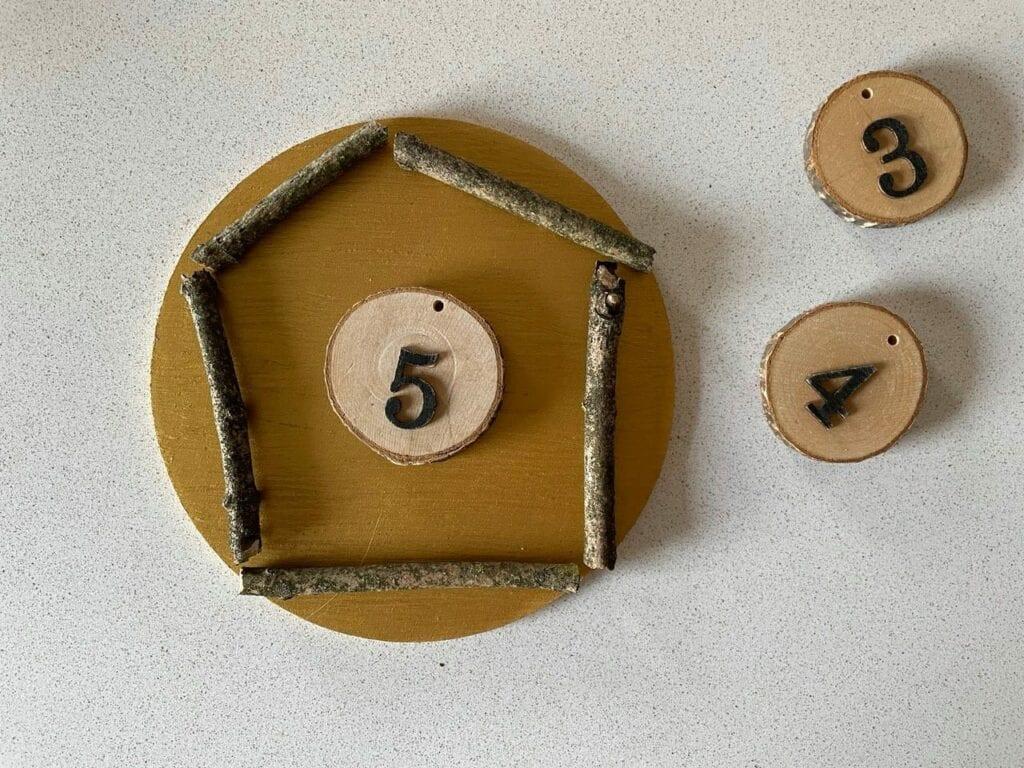 formas geometricas com elementos naturais 01 pentagono