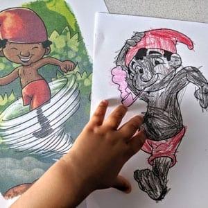 Desenhos do Saci Pererê para colorir