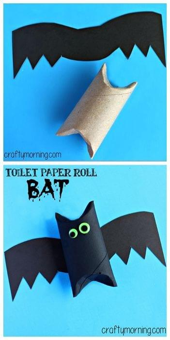atividade de halloween com rolo de papel higienico