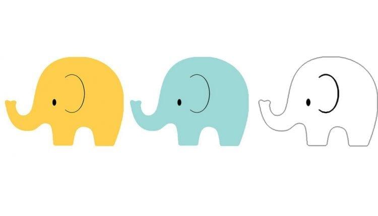 Brincar de Elefantinho Colorido