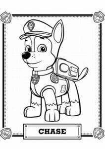 Chase Patrulha Canina para colorir