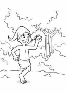 Colorir Saci personagem do folclore