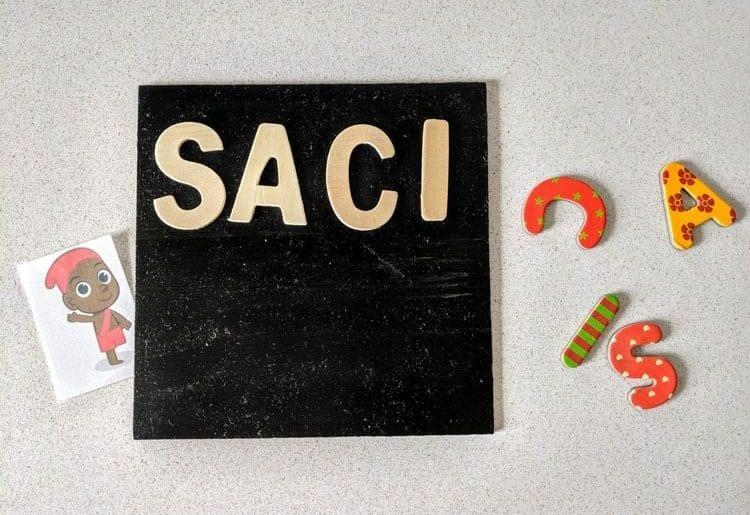 Como se escreve Saci?