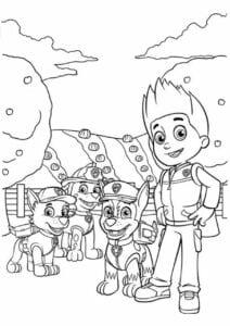 Desenho para colorir Patrulha Canina