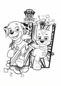 Desenhos para pintar Patrulha Canina