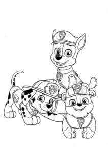 Imagem de Paw Patrol para colorir