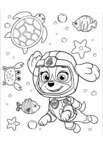 Imagem Patrulha Canina para colorir