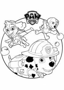 Livro para colorir Patrulha Canina
