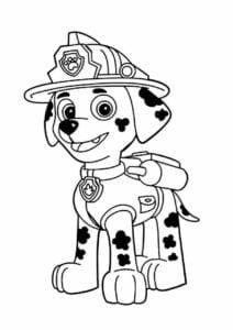 Marshall Patrulha Canina para colorir