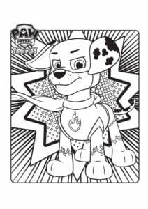 Patrulha Canina desenho para colorir