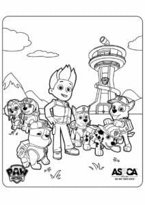 Patrulha Canina personagens para colorir
