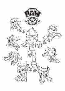Patrulha Canina personagens para pintar