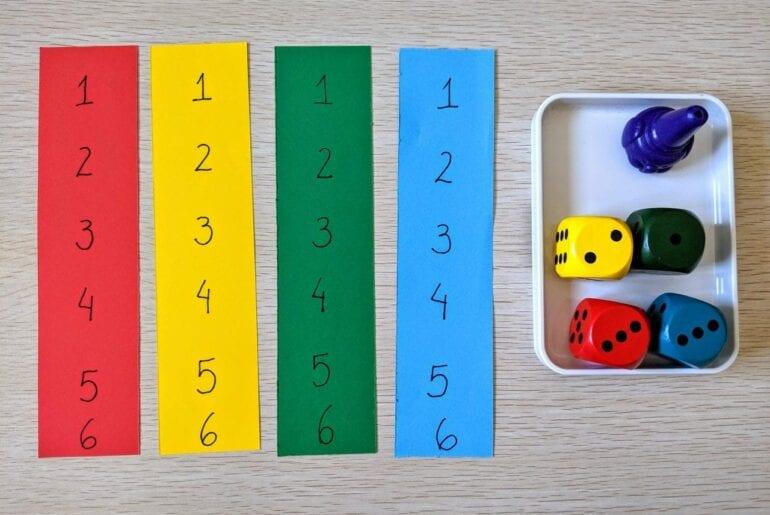 Reconhecer os números de 1 a 6