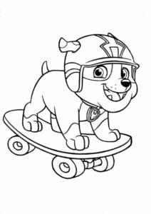 Rubble Patrulha Canina colorir