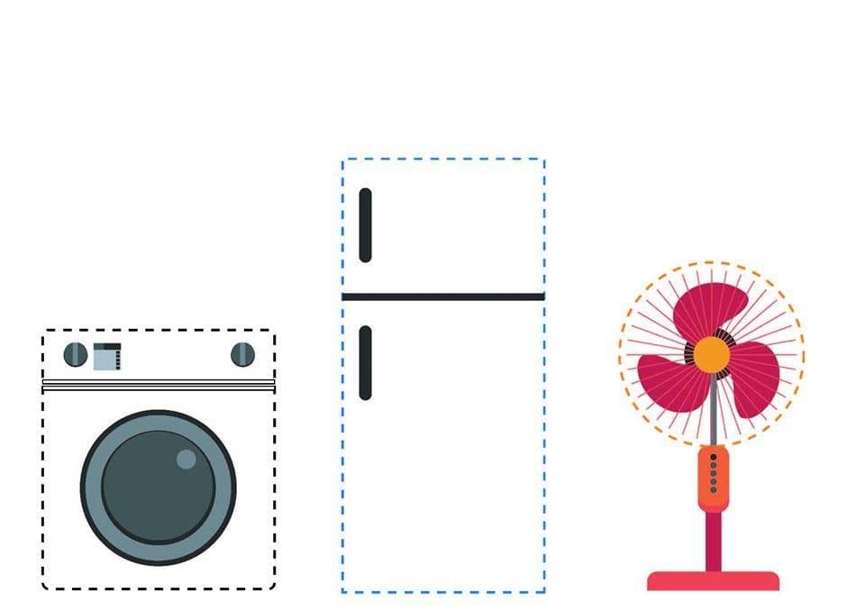 Atividade de grafomotricidade com eletrodomésticos