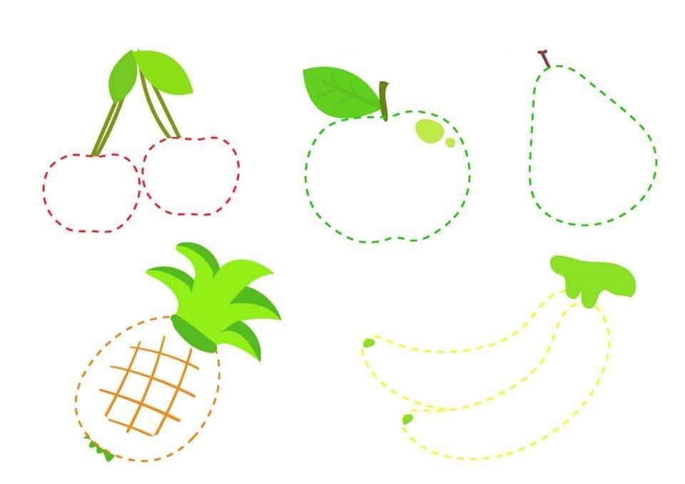 Atividade de grafomotricidade com frutas